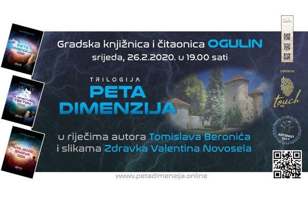 "Ogulin.eu Večer s autorom trilogije ""Peta dimenzija"" u GKČ Ogulin"