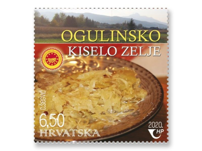 Ogulin.eu Poštanska marka s Ogulinskim kiselim zeljem